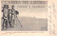 2693) CAMERA DEL LAVORO DI FIRENZE, RICORDO DELLA TESSERA. VIAGGIATA NEL 1902.