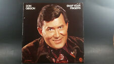 "Don Gibson ""Snap Your Fingers""  LP"