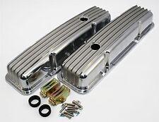 New SBC Small Block 327 350 Chevy Aluminum Short Stock Height Valve Covers Retro