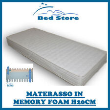 MATERASSO IN MEMORY FOAM H20 170X190 CM ANALLERGICO ECONOMICO