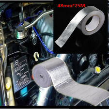 25M Adhesive Backed Heat Shield Wrap Tape For Car Intake Intercooler Pipe 450℃