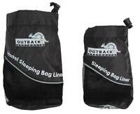 Stuff Sack Sleeping Bag Liner Storage Bag Nylon 19.5x6x9.5cm & 22.5x8x12cm