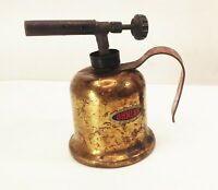 Vtg antique Dunlap brass gasoline blow torch tool soldering blacksmith