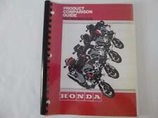 Honda Motorcycle Comparison Guide provided to Honda Powersports Dealers 1981