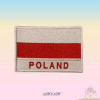"Bricked Polish flag with /""Fighting Poland/"" symbol Patch 7cm//7cm Iron on"