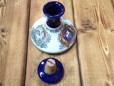 BRITISH ART ON POTTERY DECANTER MINATURE