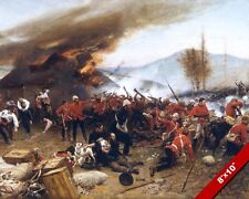 BATTLE OF RORKES DRIFT PAINTING BRITISH ZULU SOUTH AFRICA WAR ART CANVAS PRINT