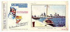 Buvard publicitaire Flan lyonnais série A Provence n°6 port Toulon