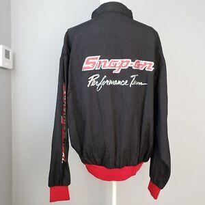 Snap on Performance Team Racing Windbreaker Jacket XL Red Black Vintage USA