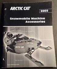 2002 Arctic Cat Snowmobile Dealer Accessories Catalog Brochure 80 Pages (614)