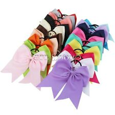 20 pcs/lot 8 Inch Large Cheer Bow With Elastic Hair Band Cheerleading Boutique