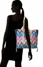 Lilly Pulitzer Printed Tote Bag Purse $188 Hearts a flutter chevron style multi