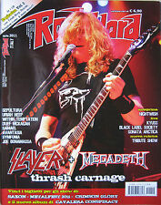 ROCK HARD 4 2011 Slayer Megadeth Loaded Joe Bonamassa Avantasia Sepultura Samael