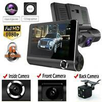 "4""Car DVR Dual Lens Dash Cam Front and G-sensor Rear 1080P Video Recorder Camera"