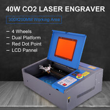 "40W CO2 Laser Engraver Engraving Cutting 8X12"" Upgraded LCD Red Dot Pointer"