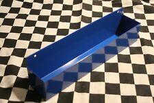 COBALT BLUE WALL MOUNT FLASHLIGHT mag tray snap 2 use hang on workbench closet