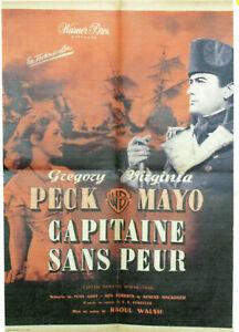CAPITAINE SANS PEUR  - R.WALSH - 1951 - WB - 60 X 80 cm - G.PECK - ON LINEN