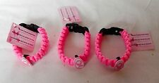 Breast Cancer Awareness Parachute Bracelets Bright Pink 3ea 21F