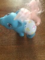 Vintage 1984 My Little Pony Newborn With Bows And Lite Pink Mane And Tail