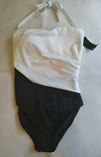 Ralph Lauren Ladies Black & White Slimming Fit Swimming Suit Costume BNWT UK 12