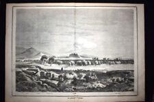 Imetto, Licabetto,Castello reale,Acropoli,Isola Egina - Atene Incisione del 1867