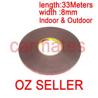 3M Genuine Double Face Sided Tape 8mm 33 meters Automotive Grade for 12V LED