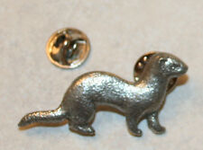 FERRET Pet Harris Fine PEWTER PIN Jewelry Art USA Made