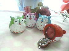FUN OWL LIP GLOSS ORNAMENT WITH GIFT BAG PARTY KIDS CHRISTMAS STOCKING FILLER