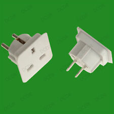 UK Worldwide Adaptor Set,3 Pin UK to Europe USA Australia Asia Sockets, Set of 2