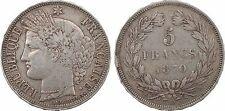 5 francs Cérès sans légende, Gouvernement Défense Nationale, 1870 Bordeaux - 93