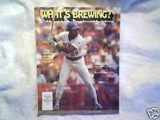 1986 WHAT'S BREWING? Milwaukee Brewers glenn braggs