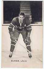 1948-52 Exhibits Hockey Card Elmer Lach Montreal Canadiens (5 1/4 x 3 1/4)