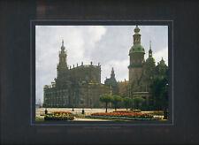 Dresden Schloss Hofkirche 1916 orig. frühe Farbenphotographie, auf Karton mont.
