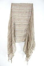 LADIES BROWN COLORFUL STRAND TASSELED STATEMENT SCARF UNQIUE NEW(MS41PT6)