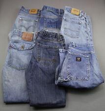 Boy's 6 Pair Lot Jeans Levi's Wrangler Arizona Dickies Size 18