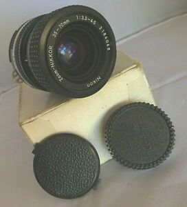 Nikon Zoom-Nikkor 35-70mm 1:3.3-4.5 Lens + Lens Caps - Made in Japan2