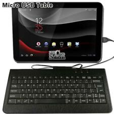 Universal Micro USB Leather Wired Keyboard Plug and play For Various tablet