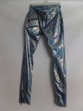 Dance Party Rock Pants Hip Hop Poppin Skinny Pants Show Pants Metallic Sparkly M