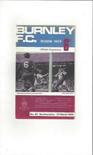 Burnley v Southampton 1967/68 Football Programme