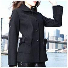 Betsey Johnson Cute Black Wool Winter Peacoat Coat Jacket size 8 Medium NWT