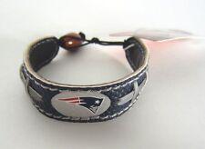New England Patriots Leather Bracelet Team Colors Licensed NFL Football New