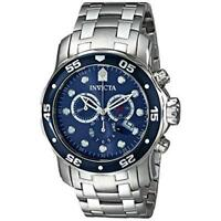 Invicta Men's Pro Diver Chronograph 200m Silver Tone Stainless Steel Watch 0070