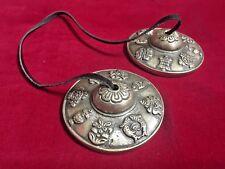 6.5cm Tibetan Meditation Tingsha Cymbal Buddhist Auspicious Symbol Pattern