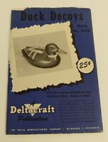 Vintage! MCM Duck Decoys Plan 4642 Deltacraft Huge Poster 24x37 Duck Hunting