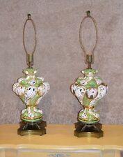 Vintage Pair of Italian Capodimonte Table Lamps