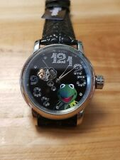 Disney Muppets automatic watch black Kermit the frog new original packaging xc!