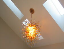 Blown Glass Chandelier - Lighting - Chandelier - Art Glass Lighting - USA Artist