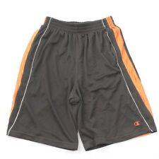 Champion Men's Shorts Size L Large Basketball Athletic Flat Front Orange Short