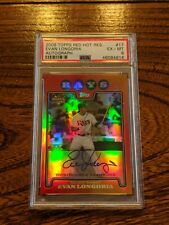 2008 Topps Red Hot Rookies Auto #17 Evan Longoria RC PSA 6 Tampa Bay