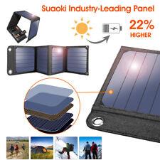 Suaoki 14W 5V/2A Solar Panel Handy Tablet USB Ladegerät Solarmodule Powerbank EU
